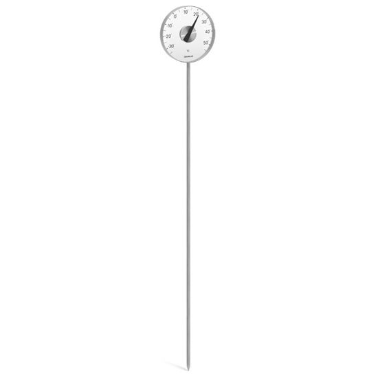 Blomus Grado Collection Celsius Thermometer with Stake in Stainless Steel with Acrylic Facing, 7-9/10'' Diameter x 1'' D x 55-9/10'' H