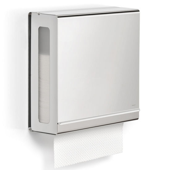 Blomus Nexio Collection Paper Towel Dispenser in Polished Stainless Steel, 10-3/5'' W x 5-1/10' D x 12'' H