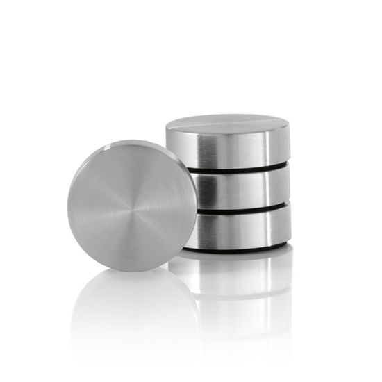 Blomus Muro Collection Set of 4 Magnets in Stainless Steel, 2-1/2'' Diameter
