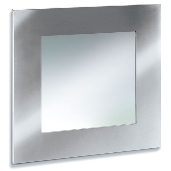 Blomus Brushed Stainless Steel Square Bathroom Mirror