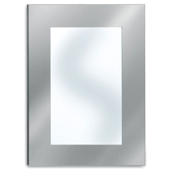 Blomus Muro Brushed Stainless Steel Bathroom Mirror