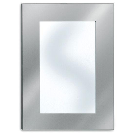 Gentil Blomus Muro Brushed Stainless Steel Bathroom Mirror