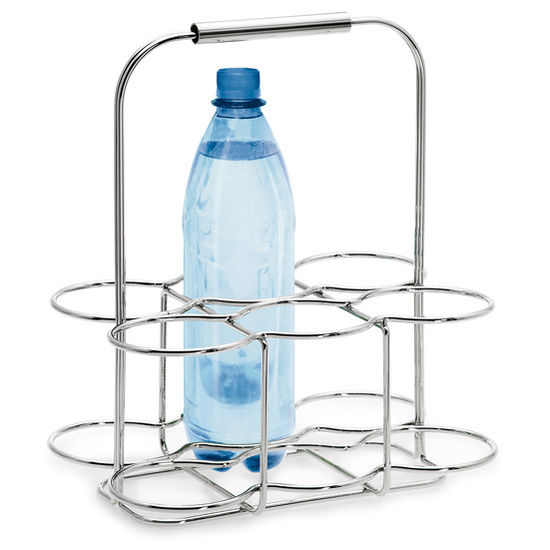 Blomus Wires Collection Wire Bottle Holder in Chrome-Plated Finish, 11-2/5'' W x 7-9/10'' D x 13-2/5'' H