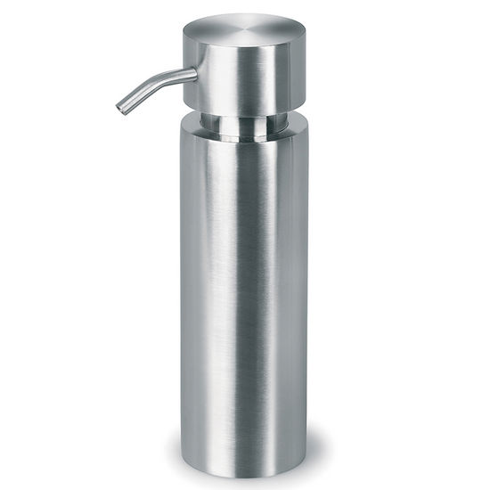 Blomus Duo Brushed Stainless Steel Freestanding Soap Dispenser