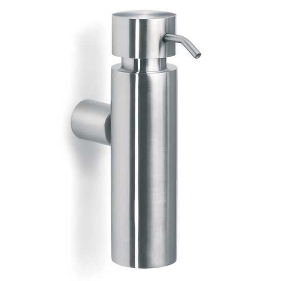 Blomus Duo Brushed Stainless Steel Wall-Mounted Soap Dispenser with Steel Spout