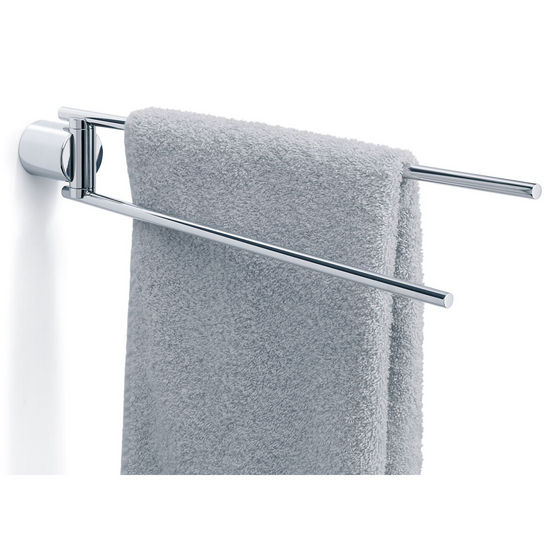"Blomus DUO Poliert 17.3"" Swivel Towel Rail in Polished Brushed Stainless Steel"