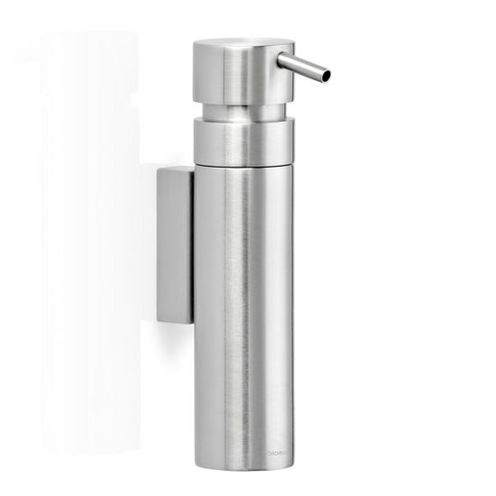 Blomus Nexio Collection Wall Mounted Soap Dispenser in Stainless Steel, 1-3/5'' Diameter x 3-2/5'' D x 6-7/10'' H