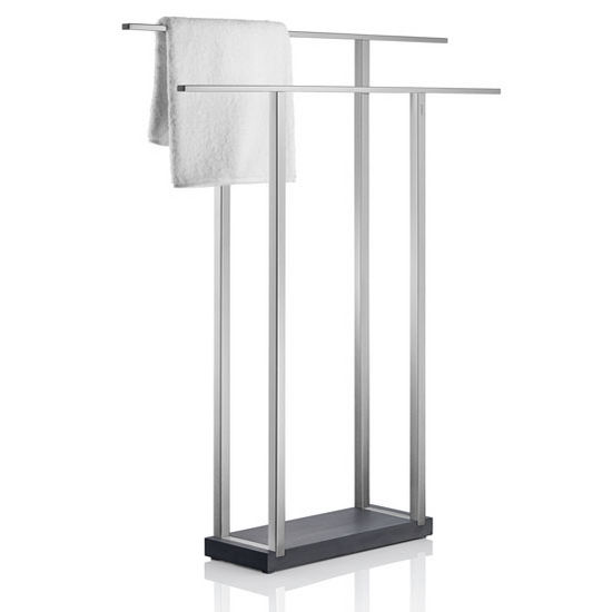 Blomus Menoto Collection Wide Towel Rack in Satin Stainless Steel, 6-5/16'' W x 29-9/16'' D x 35-21/32'' H