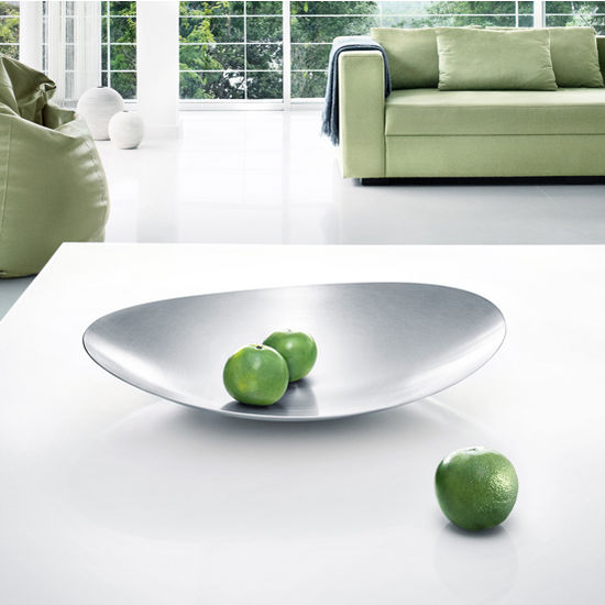 Blomus Ondea Collection Food Serving Platter in Stainless Steel, 16-1/2'' W x 13-4/5'' D x 2-4/5'' H