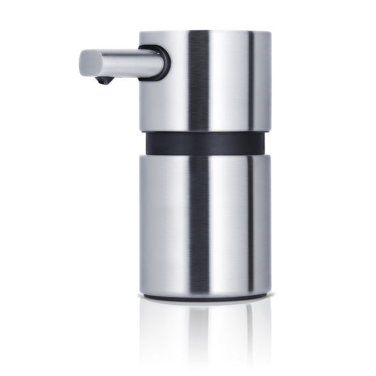 Blomus Areo Collection Small Soap Dispenser in Matt Brushed Finish, 2-1/5'' Diameter x 3-1/3'' D x 4-1/2'' H