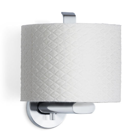 Blomus Areo Collection Toilet Paper Holder in Matt Brushed Finish, 4-1/8'' W x 2-1/5'' D x 6'' H