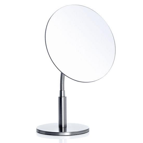 Blomus Vista Collection Flex Vanity Mirror in Matt Stainless Steel, 11'' Diameter x 7-3/32'' H