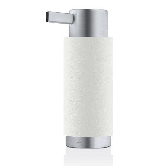 Blomus Ara Collection Soap Dispenser in White, 3-15/64'' Diameter x 2-2/5'' D x 6-5/8'' H