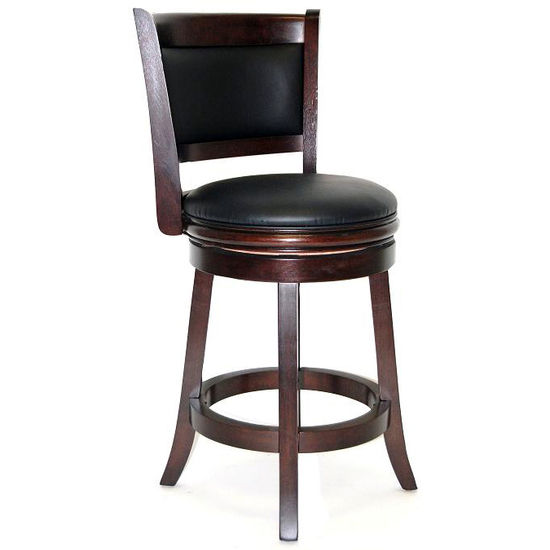 Bar Stools Augusta Quot Wood Swivel Bar Stool From Boraam