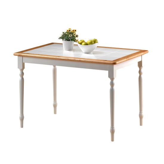Boraam Industries Tile Top Farm Dining Table
