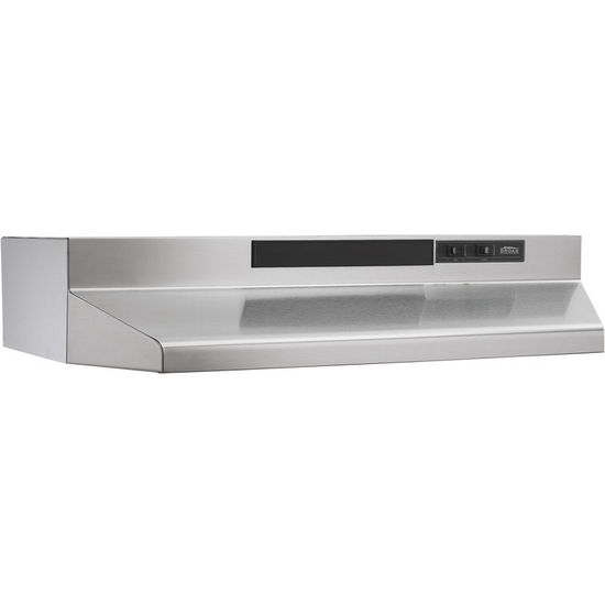 "Broan Under Cabinet Mount Economy Range Hood, Stainless Steel, 30"" & 36"" Widths Available"