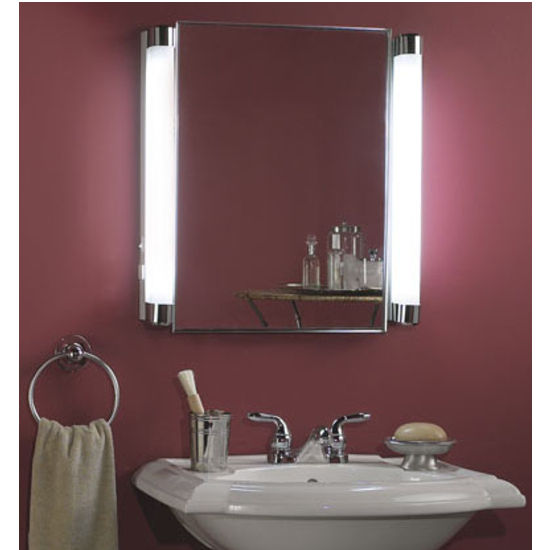 Bathroom Lights Side Of Mirror lighted medicine cabinets with top lights or side lights in a