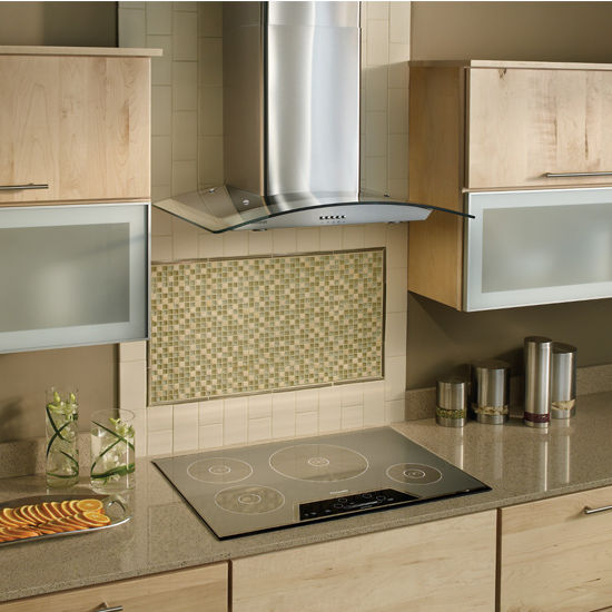 Kitchen Hood Options: Stainless Steel Arched Glass Chimney Wall Mounted Range