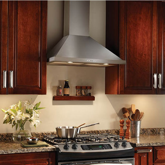 Broan Elite Wall Mount Chimney Range Hood 500 Cfm Stainless Steel 30