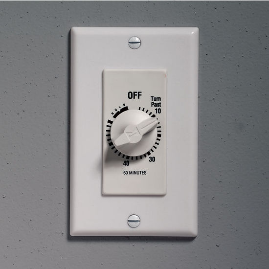 """Fan Controls - Timed Wall Control With Continuous ''On"""" Feature By Nutone"""