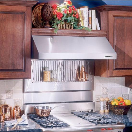 range hoods stainless steel backsplash with shelves
