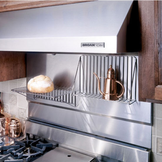 Relatively Range Hoods - Stainless Steel Backsplash with Shelves, Available  BF44