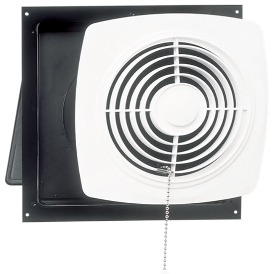 Superbe Broan Chain Operated Wall Mount Utility Fan, 470 CFM