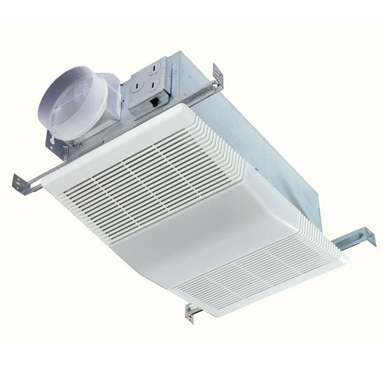 Nutone 70 Cfm Ceiling Exhaust Bath Fan W Night Light And: BRL-668RP Bathroom Fans 70 CFM Fan/Light With White