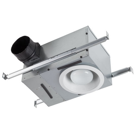 brl-744nt bathroom fans 70 cfm recessed fan/light with white trim