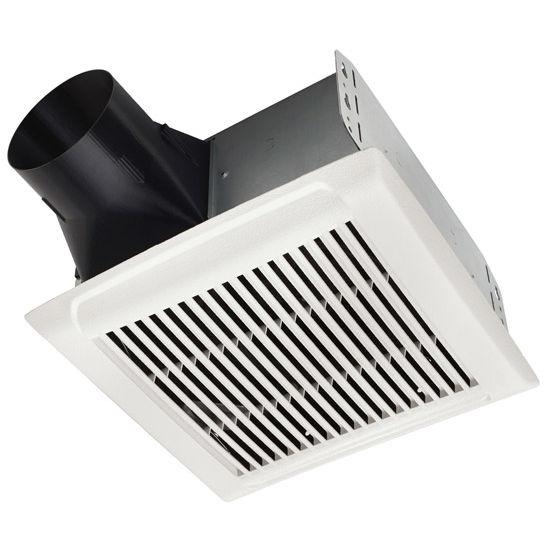 "NuTone InVent ™ 80 CFM Series Single-Speed Fan, 1.5 Sones, Energy Star ®, Housing: 10"" W x 9-1/4"" D x 5-3/4"" H"