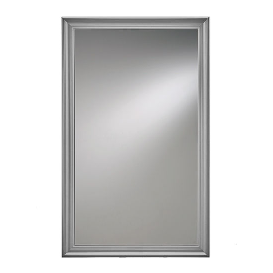 """Broan Jensen by Broan Studio V Collection 14"""" W X 24"""" H or 14"""" W x 34"""" H Wall Mounted Beveled Mirror with Satin Nickel Frame"""