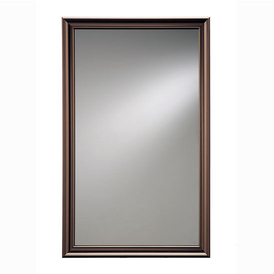 """Broan Jensen by Broan Ashton Collection 15-3/4"""" W X 25-1/2"""" H Wall Mounted Classic Mirror with Oil Rubbed Bronze Frame"""
