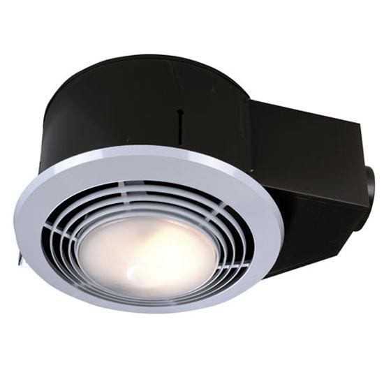 Broan 110 CFM Fan/Light/Heater, 3.0 Sones