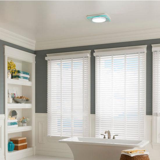 Nutone Lunaura 110 Cfm Ventilation Fan Light Led Nightlight With Tinted Panel