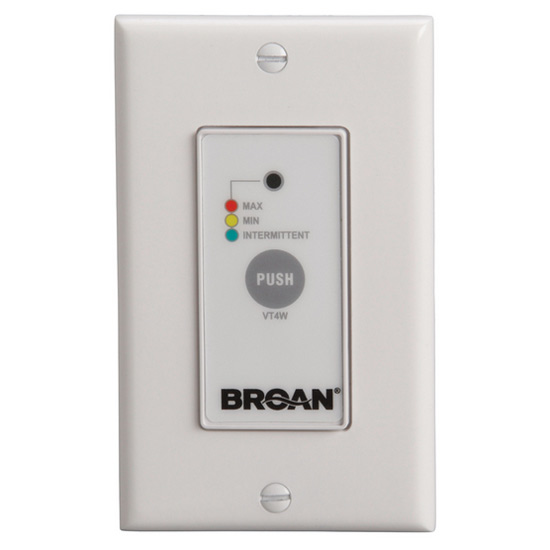 VT4W Off/Low/High Speed/Intermittent 20 Min./Hour Wall Control