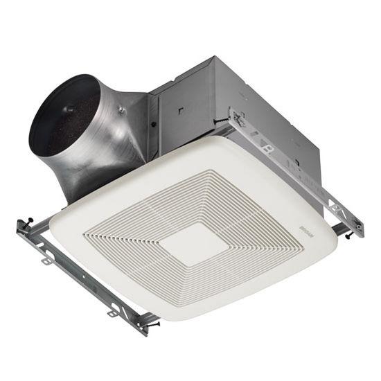 """Broan Ultra Green ™ 110 CFM Series Single-Speed Fan, <0.3 Sones, Energy Star ®, Housing: 10-1/2"""" W x 10-1/2"""" D x 7-5/8"""" H"""