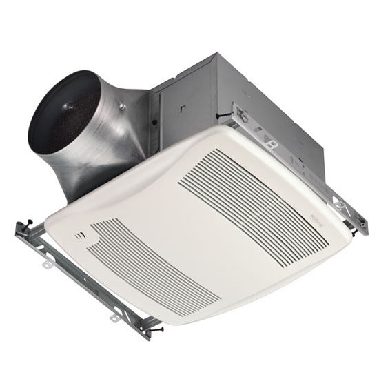 NuTone Ultra Green &#8482; 110 CFM Humidity Sensing Ventilation Fan with White Grille, <0.3 Sones, Energy Star &#174;, Housing: 11-3/8&quot; W x 10-1/2&quot; D x 7-5/8&quot; H
