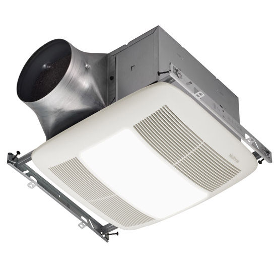 NuTone Ultra Green &#8482; 80 CFM Multi-Speed Ventilation Fan with Lighting and White Grille, <0.3 Sones, Energy Star &#174;, Housing: 11-3/8&quot; W x 10-1/2&quot; D x 7-5/8&quot; H