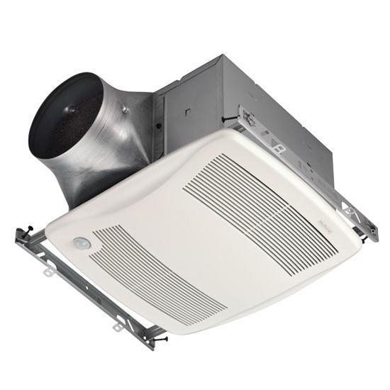 NuTone Ultra Green &#8482; 80 CFM Motion Sensing Multi-Speed Ventilation Fan with White Grille, <0.3 Sones, Energy Star &#174;, Housing: 11-3/8&quot; W x 10-1/2&quot; D x 7-5/8&quot; H