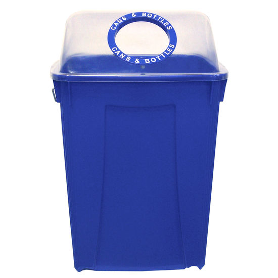 Busch Systems 26 Gallon Recycling Bin w/ Clearview Lid
