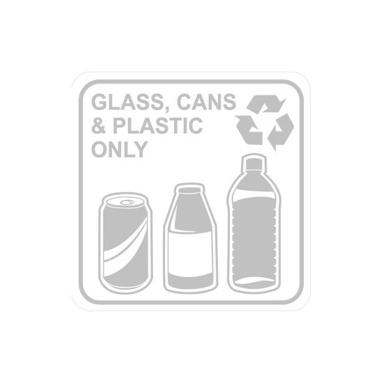 Busch Systems Square Recycling Bin Labels