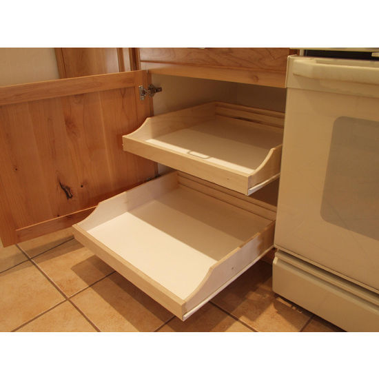 rolling shelves do it yourself cabinet pull outs for. Black Bedroom Furniture Sets. Home Design Ideas