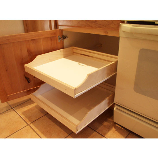 Rolling shelves do it yourself cabinet pull outs for kitchen view larger image solutioingenieria Image collections