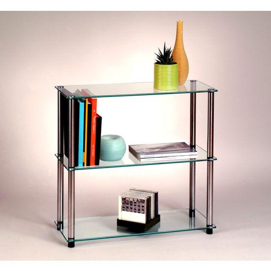Classic Glass Series Three-Shelf Bookcase