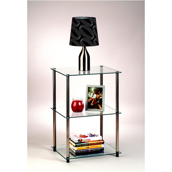 Classic Glass Series Three-Tier Lamp/End Table