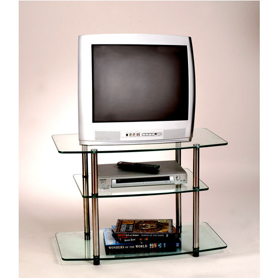 Classic Glass Series Three-Tier TV Stand