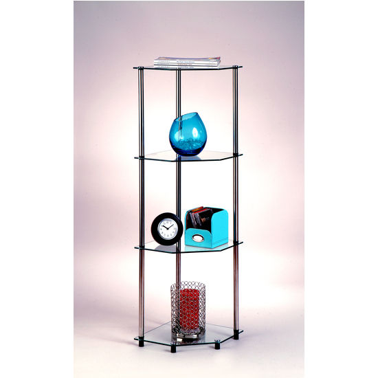 Classic Glass Series Four-Tier Corner Shelf