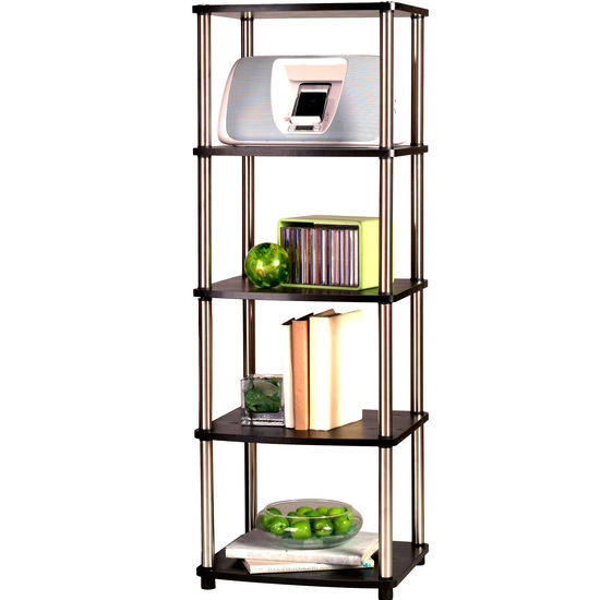 Five-Tier Media Storage Tower