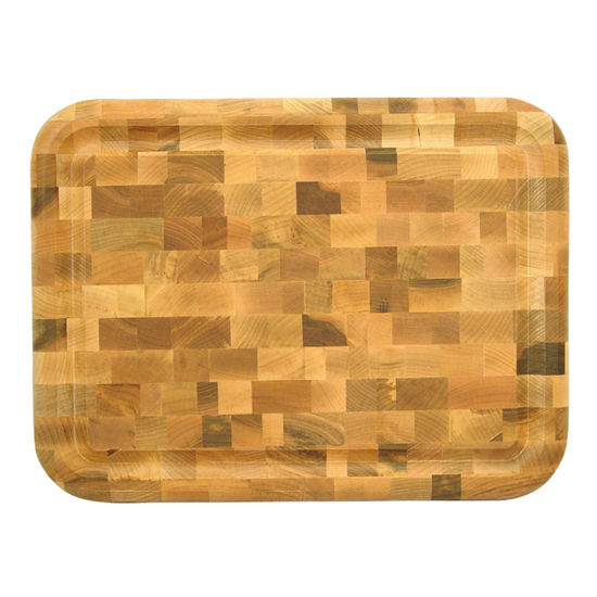 Reversible end Grain chopping block with Gravy Groove