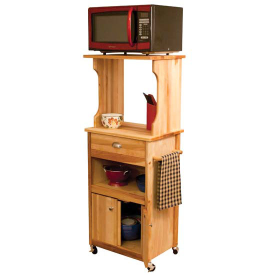 Hutch Top Cart With Open Or Enclosed Storage In Northern